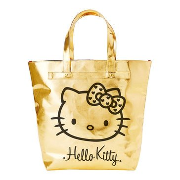 Hello Kitty Wink Gold Tote Bag