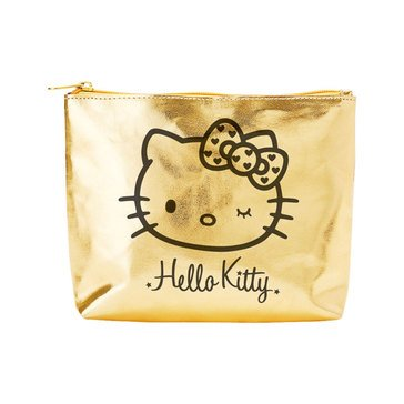 Hello Kitty Wink Gold Zippered Pouch