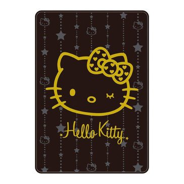 Hello Kitty Wink Gold Big Throw 78.75