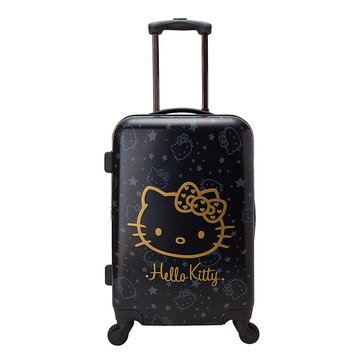 Hello Kitty Wink Gold Rolling Suitcase 21.75