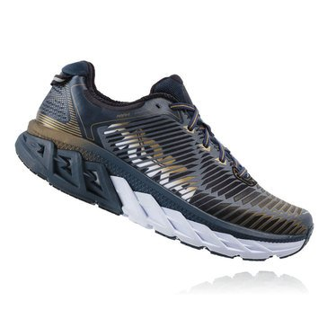 Hoka One One Arahi Men's Running Shoe Midnight Navy/ Metallic Gold