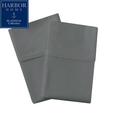 Platinum Collection 400 Thread-Count Hygro Pillowcase, Radian Grey - King