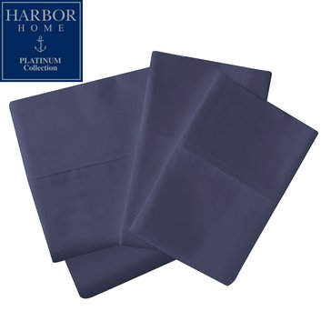 Platinum Collection 400 Thread-Count Hygro Sheet Set, Navy - Queen