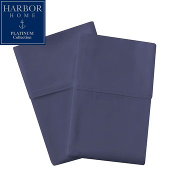 Platinum Collection 400 Thread-Count Hygro Pillowcase, Navy - King
