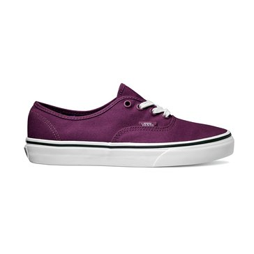 Vans Authentic Unisex Skate Shoe Dark Purple/ True White Cuban Floral
