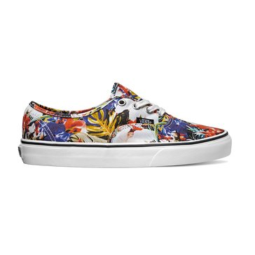 Vans Authentic Unisex Skate Shoe Black/ True White Cuban Floral