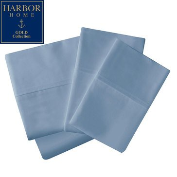 Gold Collection 350 Thread-Count Percale Sheet Set, Blue Shadow - King