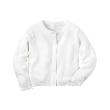 Carter's Toddler Girls' Holiday Lurex Cardy Sweater, Ivory