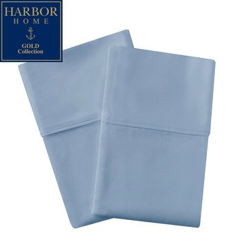 Gold Collection 350 Thread-Count Percale Pillowcase, Blue Shadow - King