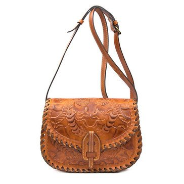 Patricia Nash Nardini Saddle bag in Burnished Tooled Gold