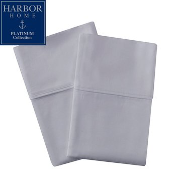 Platinum Collection 500 Thread-Count Pillowcase, Soft Silver - King