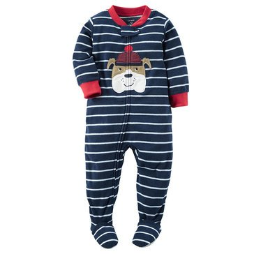 Carter's Baby Boys' Fleece Pajamas, Stripe Bulldog