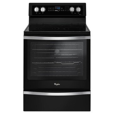 Whirlpool 6.4-Cu.Ft. Freestanding Electric Range w/ True Convection, Black Ice (WFE745H0FE)