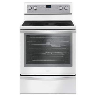 Whirlpool 6.4-Cu.Ft. Freestanding Electric Range w/ True Convection, White Ice (WFE745H0FH)