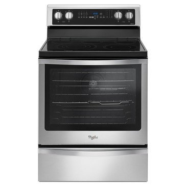 Whirlpool 6.4-Cu.Ft. Freestanding Electric Range w/ True Convection, Stainless Steel (WFE745H0FS)