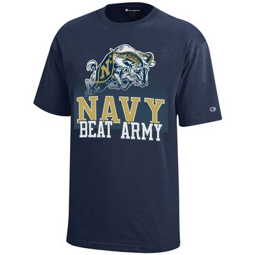Champion Youth Boys Naval Academy Goat Navy Beat Army Short Sleeve Tee