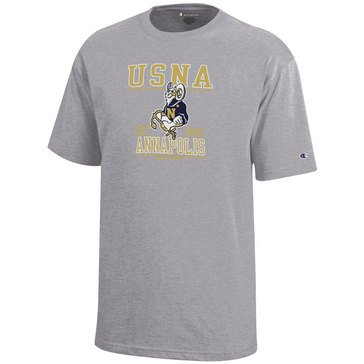 Champion Youth Boys' USNA Goat Mascot Annapolis Navy Beat Army Short Sleeve Tee