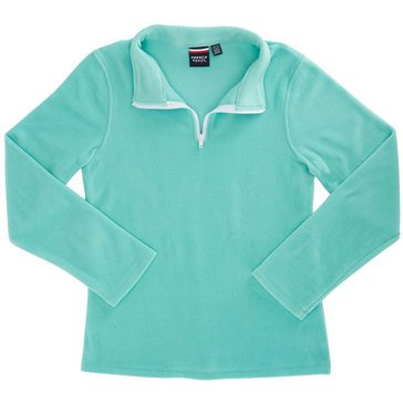 French Toast Toddler Girls' 1/4 Zip Micro Fleece Blue