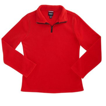 French Toast Toddler Girls' 1/4 Zip Micro Fleece Ruby Rose