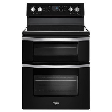 Whirlpool 6.7-Cu.Ft. Double Oven Electric Range w/ True Convection, Black Ice (WGE745C0FE)