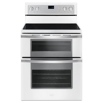 Whirlpool 6.7-Cu.Ft. Double Oven Electric Range w/ True Convection, White Ice (WGE745C0FH)