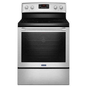 Maytag 6.4-Cu.Ft. Freestanding Electric Range, Stainless Steel (MER8650FZ)