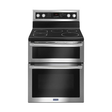 Maytag 6.7-Cu.Ft. Double Oven Freestanding Electric Range, Stainless Steel (MET8800FZ)
