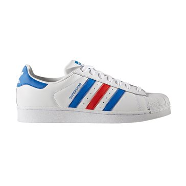 adidas Superstar Men's Shoe Footwear White/ Blue/ Red
