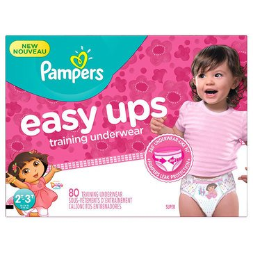 Pampers Easy Ups - Girls' Size 2T/3T, Super Pack 80-Count