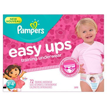 Pampers Easy Ups - Girls' Size 3T/4T, Super Pack 72-Count