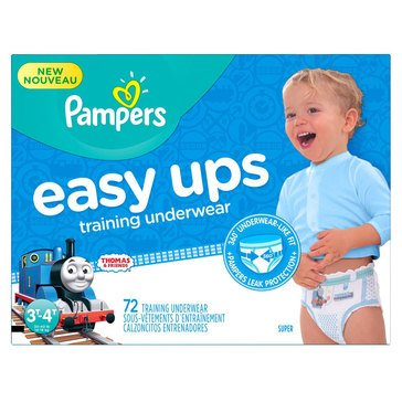 Pampers Easy Ups - Boys' Size 3T/4T, Super Pack 72-Count