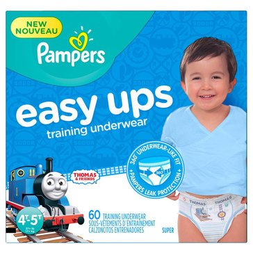 Pampers Easy Ups - Boys' Size 4T/5T, Super Pack 60-Count