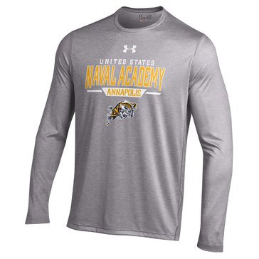 Under Armour Men's  Naval Academy with Goat Tech Long Sleeve Tee