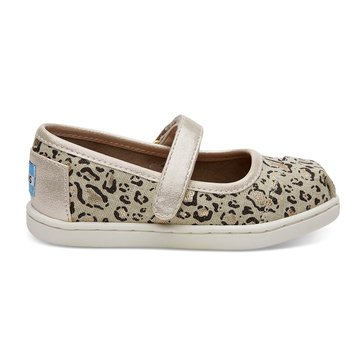 Toms MaryJane Linen Bob Cat Girls' Casual Shoe Natural