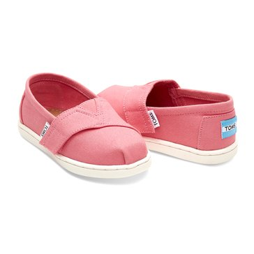 Toms Classic Canvas Girls' Casual Slip On Shoe Bubblegum Pink