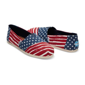Toms Classic Alpargata Women's Slip On Shoe Americana Red/Navy