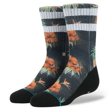 Stance Little Boys' Pina Crew Socks, Black