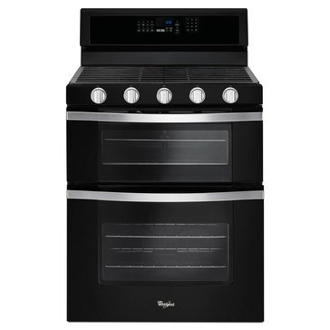Whirlpool 6-Cu.Ft. Double Oven Gas Range w/ True Convection, Black Ice (WGG745S0FE)