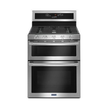 Maytag 6.0-Cu.Ft. Double Oven Freestanding Gas Range, Stainless Steel (MGT8800FZ)
