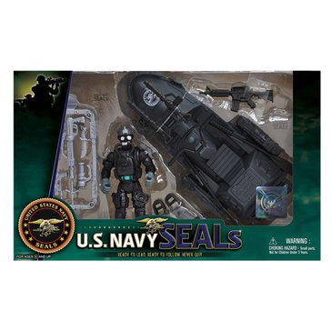 Excite US Navy Seal Figure & Watercraft Toy