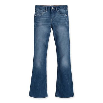 Levi's Big Girls' Thick Stitch Jeans, Blue Rapids
