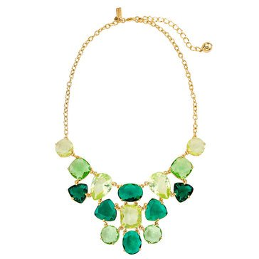 Kate Spade Gold Tone 'Vegas Jewels' Emerald Statement Necklace