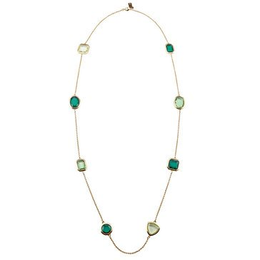Kate Spade Gold Tone 'Vegas Jewels' Emerald Scatter Necklace