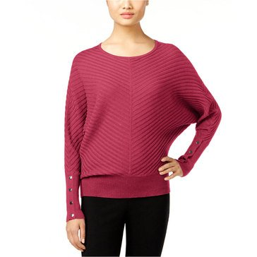 Alfani Mitered Rib Dolman Sweater in Anything Rose
