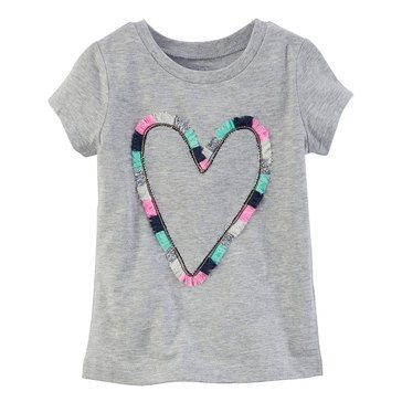 Carter's Toddler Girls' Heart Tee, Grey