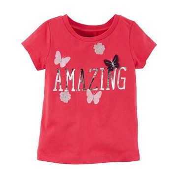 Carter's Toddler Girls' Amazing Tee, Red