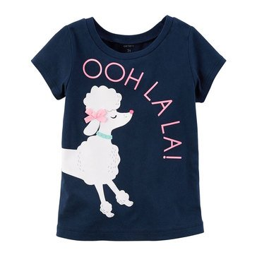 Carter's Toddler Girls' Ooh La La Tee, Navy