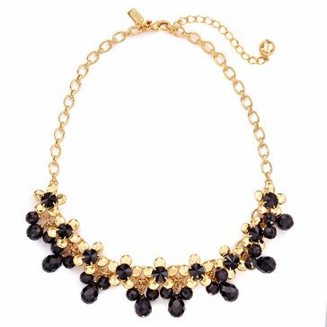 Kate Spade Gold Tone 'Sunset Blooms' Black Necklace