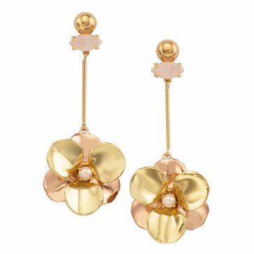 Kate Spade Gold Tone 'Pick A Posy' Linear Earrings