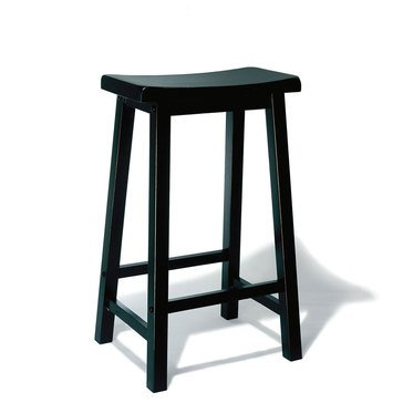 Saddle Bar Stool, Black